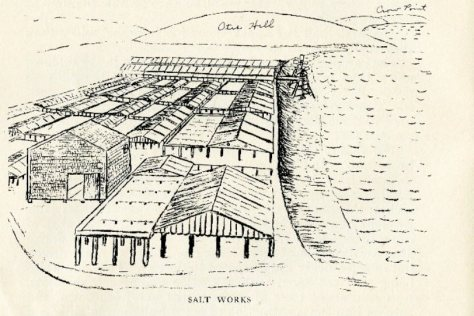 """Illustration from """"The Old Salt Works,"""" Hingham Historical Society Publication No. 1 (1916)"""