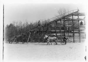 Ramp to Leavitt's Ice House, January 31, 1898