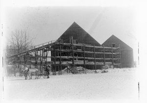 Charles Leavitt's Ice House, January 31, 1898