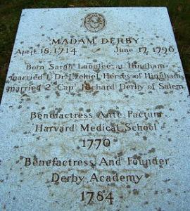 Sarah Derby's Gravestone, Hingham Cemetery