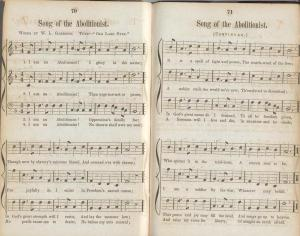 "Words and music to ""Song of the Abolitionist,"" from Lincoln's Anti-Slavery Songbook"