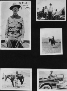 A page from Bernard Gorfinkle's scrapbook of photographs taken during his participation in the 1916 pursuit of Pancho Villa