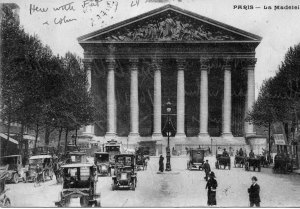 Postcard of La Madeleine, Paris, sent home by Bernard Gorfinkle