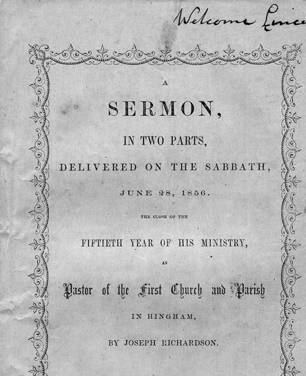 "Joseph Richardson's ""A Sermon in Two Parts,"" delivered Sunday, June 28, 1856"