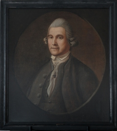 Portrait of Henry Barnes by Prince Demah.  Hingham Historical Society Photo (c) James T. Vradelis