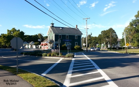 View of Hingham Centre from corner of Main and Short Streets, 9/8/13