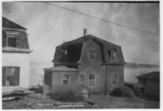 The Jones Cottage before it was razed, 1956